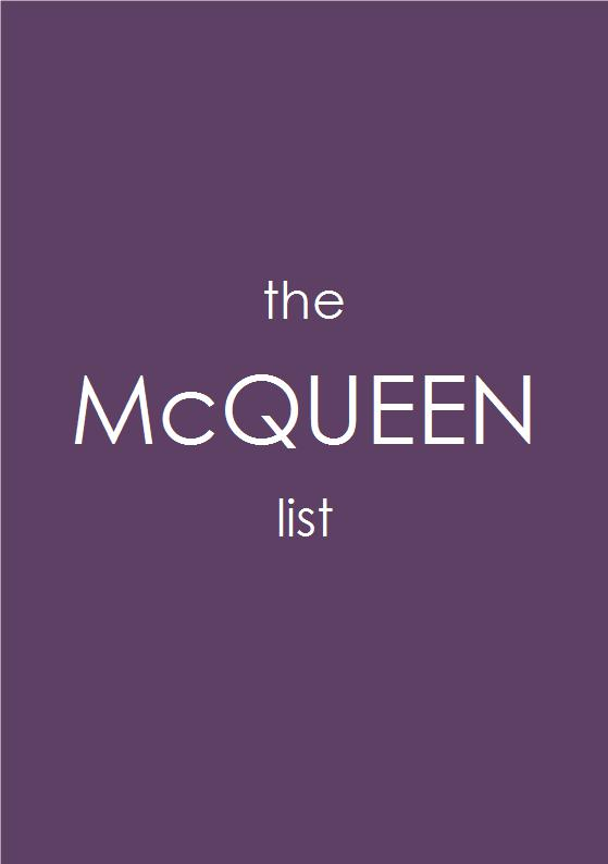 the McQUEEN list