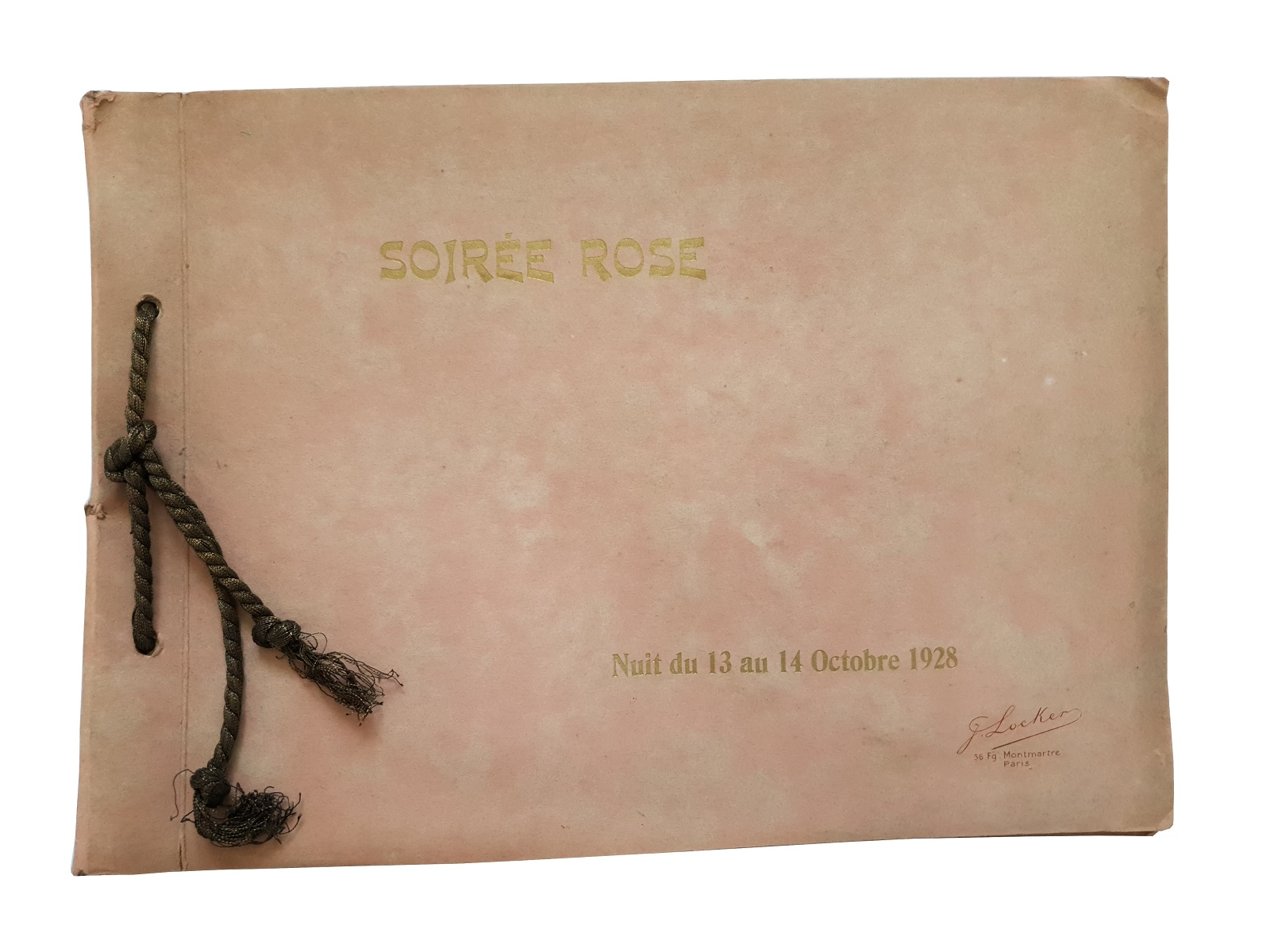 Soiree Rose. A photograph album documenting a 1928 Parisian party hosted by Paul Dreyfus-Rose