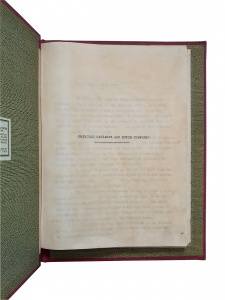 A typed manuscript titled 'Princess Margaret and Peter Townsend'